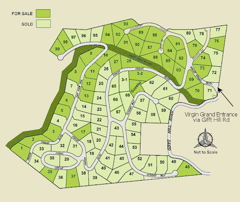 Virgin Grand Estates lots for sale St John