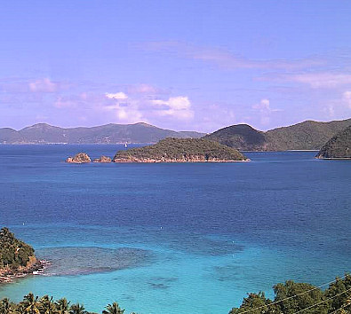 View from Peter Bay home for sale, St John USVI